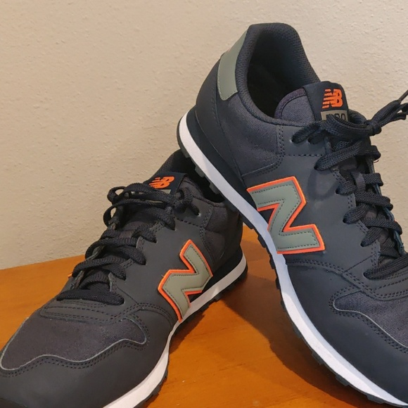 timeless design a7be2 79f4f Rare New Balance 500 NAVY & ORANGE (GM500COM)